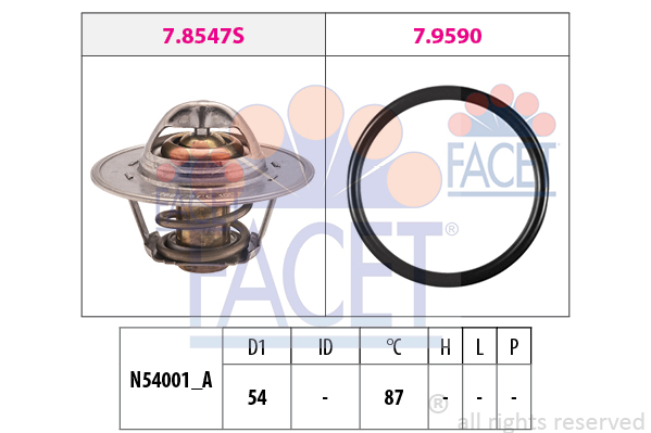 Thermostat/calorstat FACET 7.8547 (X1)