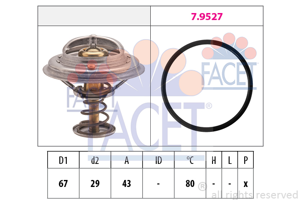 Thermostat/calorstat FACET 7.8549 (X1)