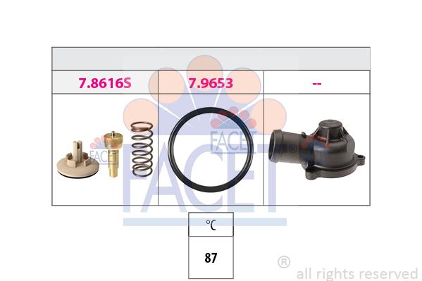 Thermostat/calorstat FACET 7.8617K (X1)