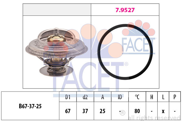 Thermostat/calorstat FACET 7.8623 (X1)