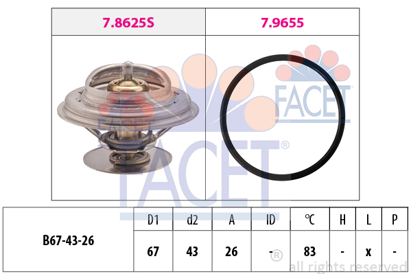 Thermostat/calorstat FACET 7.8625 (X1)