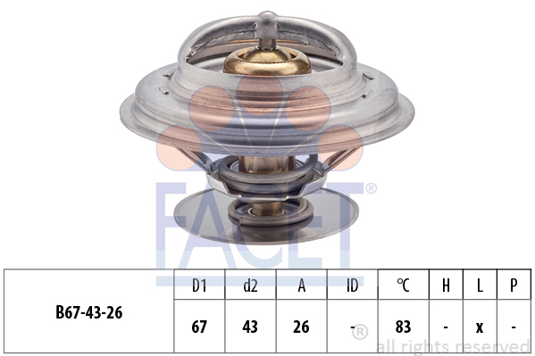 Thermostat/calorstat FACET 7.8625S (X1)