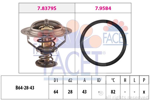 Thermostat/calorstat FACET 7.8649 (X1)