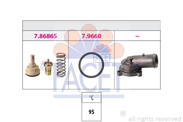 Thermostat/calorstat FACET 7.8686K (X1)