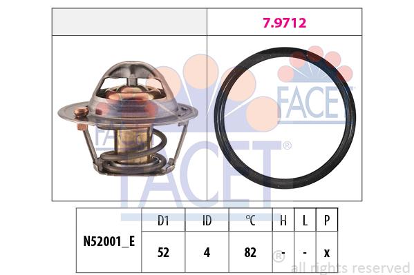 Thermostat/calorstat FACET 7.8725 (X1)