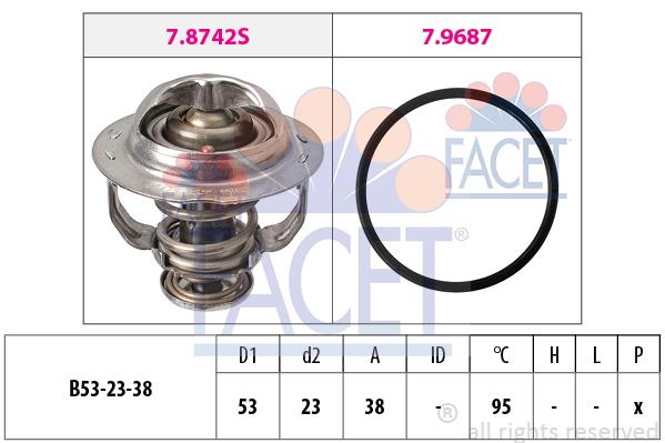 Thermostat/calorstat FACET 7.8742 (X1)