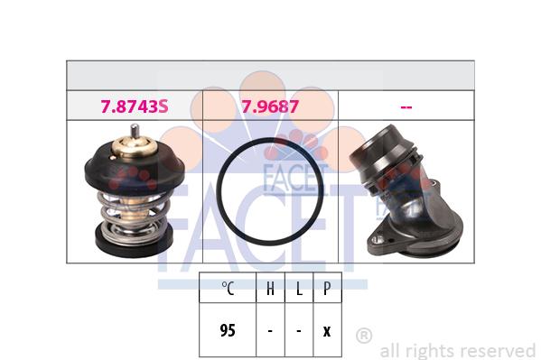 Thermostat/calorstat FACET 7.8799K (X1)