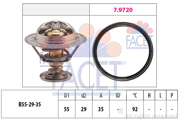 Thermostat/calorstat FACET 7.8945 (X1)