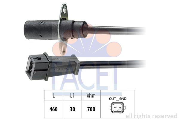 Capteur d'angle FACET 9.0001 (X1)