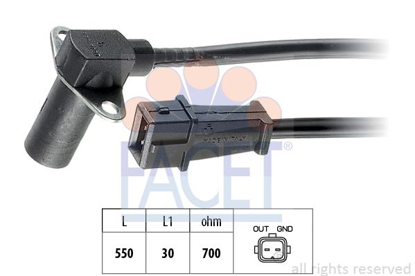 Capteur d'angle FACET 9.0002 (X1)
