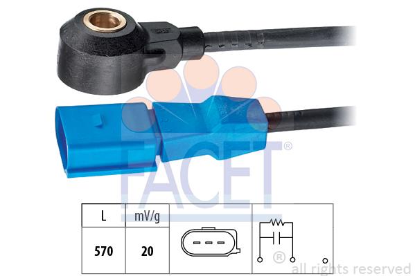 Capteur de cliquetis FACET 9.3048 (X1)