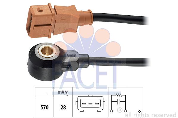 Capteur de cliquetis FACET 9.3053 (X1)