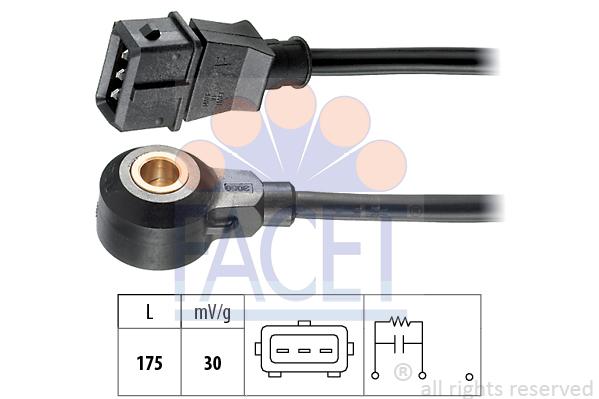 Capteur de cliquetis FACET 9.3072 (X1)