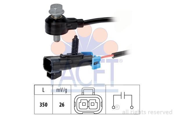Capteur de cliquetis FACET 9.3093 (X1)