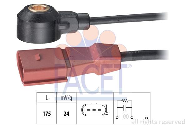 Capteur de cliquetis FACET 9.3173 (X1)
