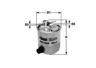 Filtre a carburant CLEAN FILTERS DN1984 (X1)