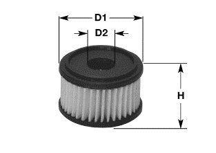 Filtre a carburant CLEAN FILTERS MG1676 (X1)