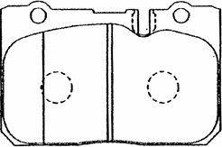 Plaquettes de frein avant AISIN A1N025 (X1)