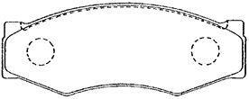 Plaquettes de frein avant AISIN B1N003 (X1)
