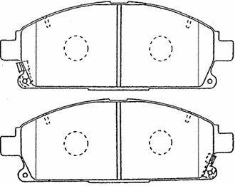 Plaquettes de frein avant AISIN B1N062 (X1)