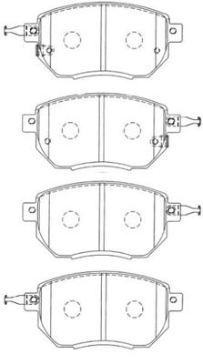 Plaquettes de frein avant AISIN B1N079 (X1)