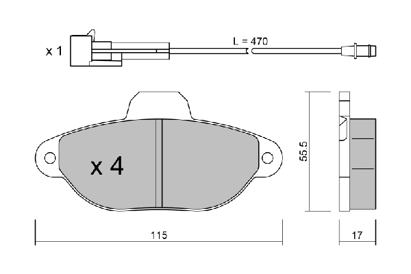 Plaquettes de frein avant AISIN BPFI-1001 (X1)