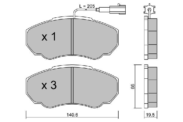 Plaquettes de frein avant AISIN BPFI-1010 (X1)