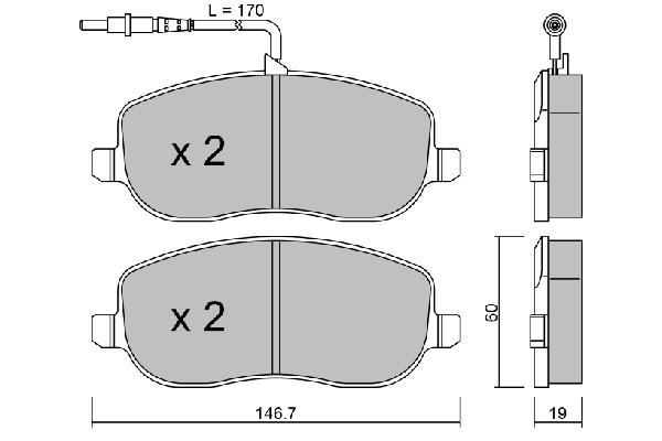 Plaquettes de frein avant AISIN BPFI-1023 (X1)