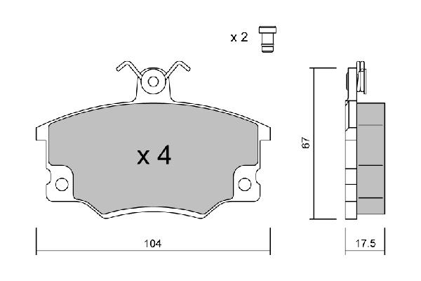Plaquettes de frein AISIN BPFI-1038 (X1)