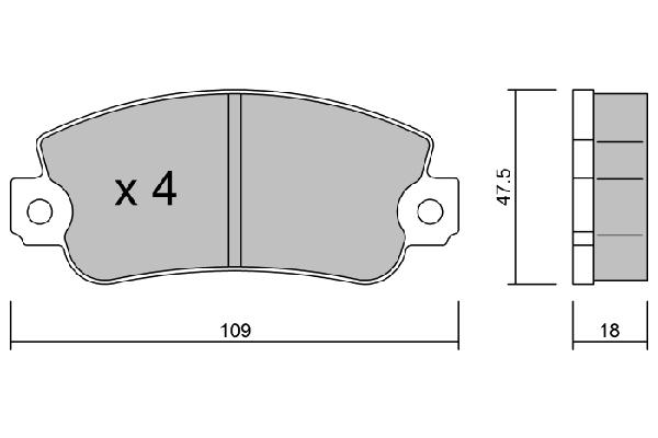 Plaquettes de frein avant AISIN BPFI-1041 (X1)