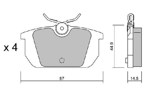 Plaquettes de frein arriere AISIN BPFI-2007 (X1)