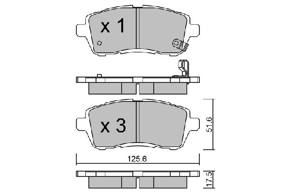 Plaquettes de frein avant AISIN BPFO-1002 (X1)
