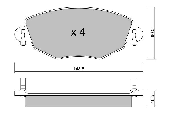 Plaquettes de frein avant AISIN BPFO-1005 (X1)