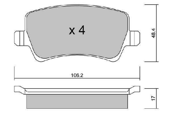 Plaquettes de frein arriere AISIN BPFO-2002 (X1)