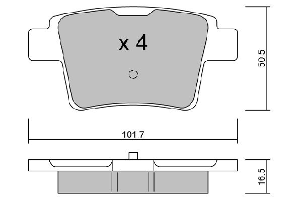 Plaquettes de frein arriere AISIN BPFO-2006 (X1)