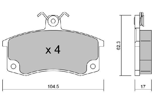 Plaquettes de frein avant AISIN BPLA-1001 (X1)
