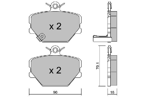 Plaquettes de frein AISIN BPMB-1001 (X1)