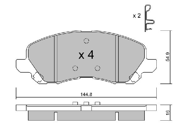 Plaquettes de frein avant AISIN BPMI-1001 (X1)