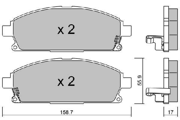 Plaquettes de frein avant AISIN BPNI-1915 (X1)
