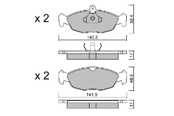 Plaquettes de frein AISIN BPOP-1003 (X1)