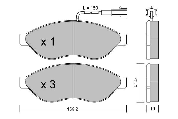 Plaquettes de frein avant AISIN BPPE-1002 (X1)