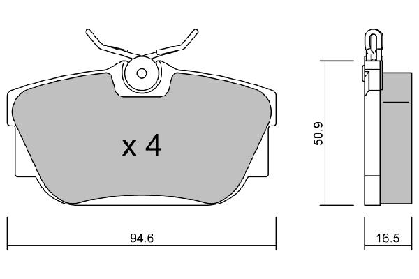 Plaquettes de frein avant AISIN BPPE-1017 (X1)