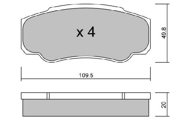 Plaquettes de frein arriere AISIN BPPE-2004 (X1)