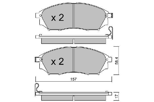 Plaquettes de frein avant AISIN BPRE-1011 (X1)