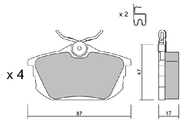 Kit de plaquettes de frein, frein à disque AISIN BPSM-2001 (X1)