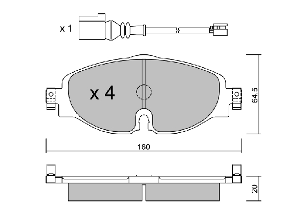 VW Karmann Ghia Type 14 Disques de frein la construction devant 66-73