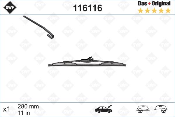 Balai d'essuie-glace SWF 116116 (X1)