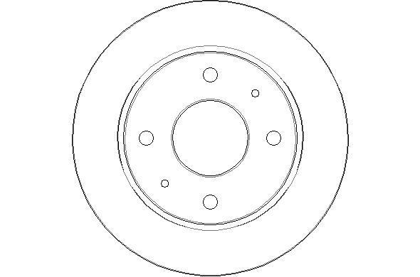 Disque de frein arriere NATIONAL NBD1514 (X1)