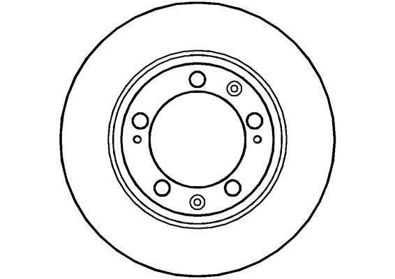 Disque de frein avant NATIONAL NBD431 (X1)