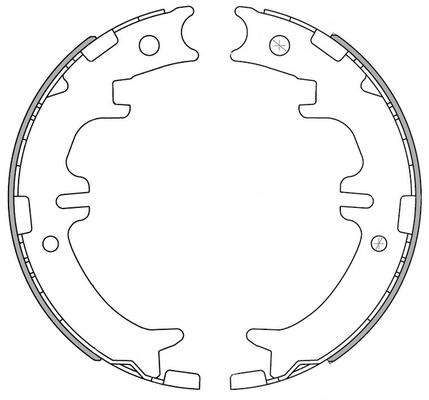 kit de frein arrière simple ou prémonté NATIONAL NS4019 (X1)